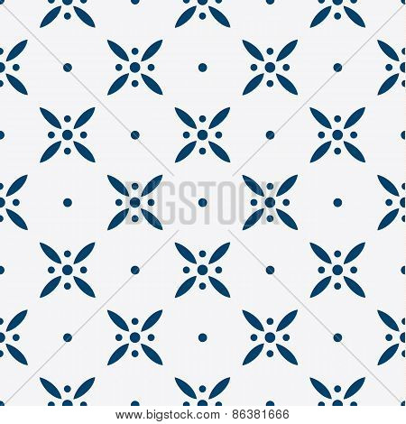 Blue and white delft pattern