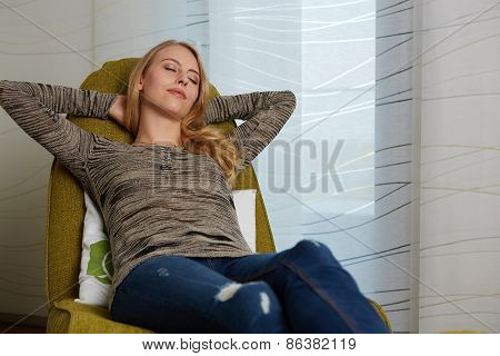 Attractive young woman resting