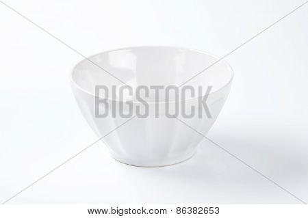 white decorative bowl on white background