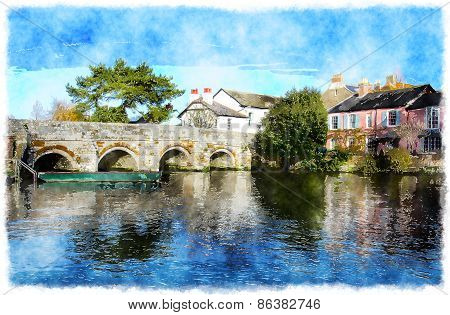 The River Avon At Christchurch In Dorset