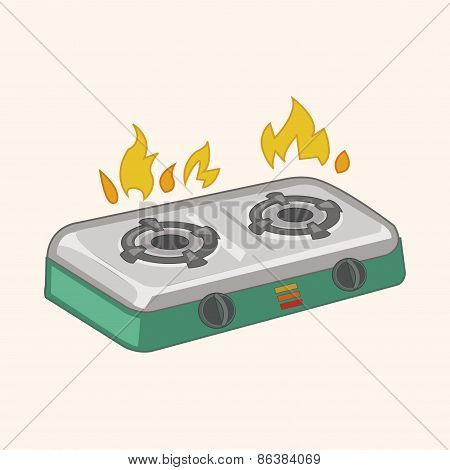 Induction Cooker Theme Elements