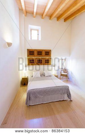 Majorca Balearic bedroom indoor house in Balearic islands Mediterranean architecture of Mallorca