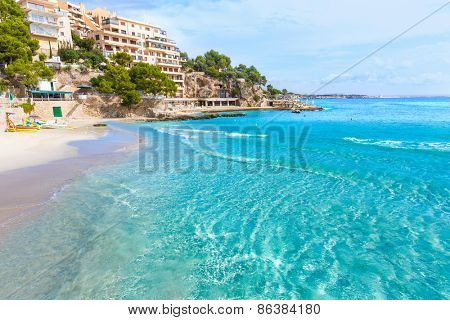 Majorca Playa de Illetas Balneario beach in Mallorca Bendinat Calvia at Balearic islands of spain