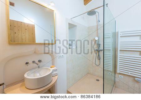 Majorca Balearic bathroom indoor house in Balearic islands Mediterranean architecture of Mallorca