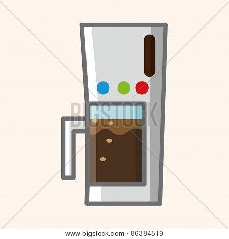 Home Appliances Theme Coffee Machine Elements