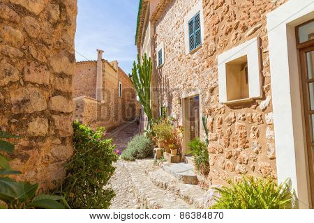 Fornalutx village in Majorca Balearic island Mallorca spain