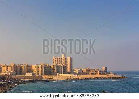 The Morning View Of Alexandria Harbor, Egypt