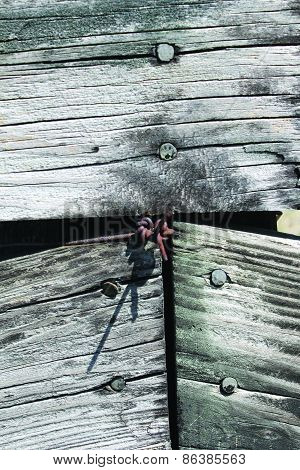 Old Fence with Nails