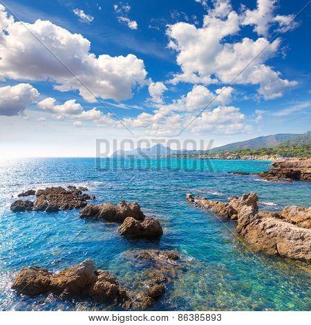 Majorca Cala Ratjada beach Rajada in Capdepera Mallorca