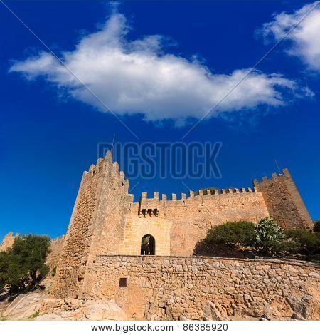 Majorca Capdepera Castle Castell in Mallorca balearic Island of spain