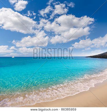 Majorca Cala Mesquida beach in Mallorca Balearic Islands of Spain