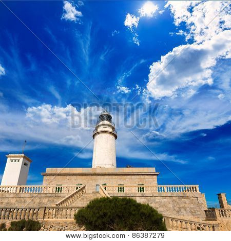 Majorca Formentor Cape Lighthouse in Mallorca North at Balearic islands of Spain