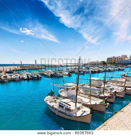Majorca Cala Bona marina port Son Servera Mallorca in Balearic islands of spain