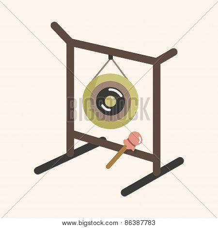 Instrument Gong Cartoon Theme Elements