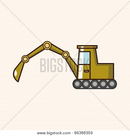 Transportation Excavator Truck Theme Elements