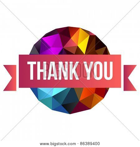 sign Thank You on abstract background 10eps