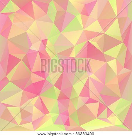 Vector Polygonal Background Pattern - Triangular Design In Pastel Sprin