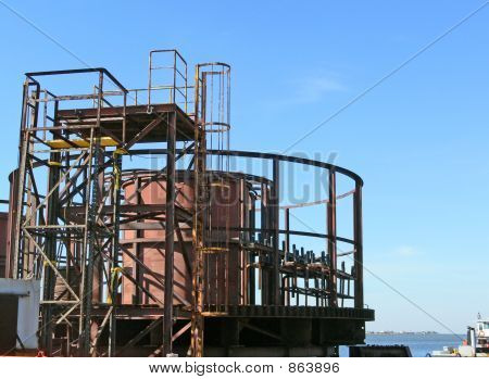 round scaffodling tower