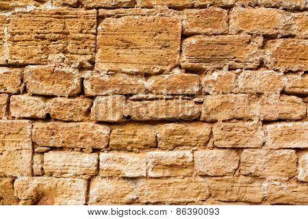 Alcudia Old Town masonry wall texture Mallorca Balearic island of Spain