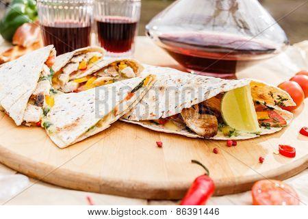 grill tortilla