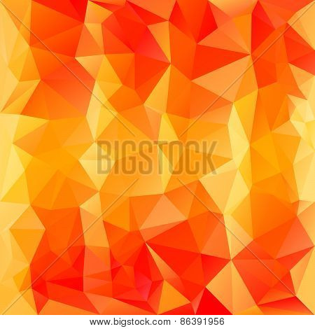Vector Polygonal Background Pattern - Triangular Design In Autumn Color