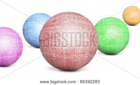 Several Colored Spheres Texturing