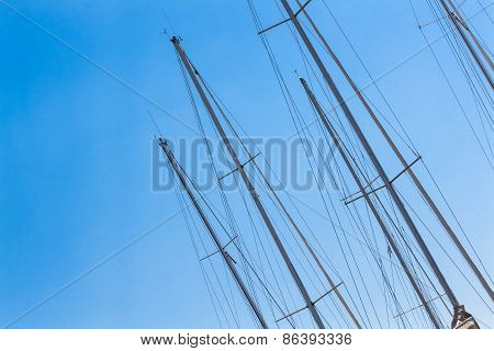 Sailing Must And Blue Sky