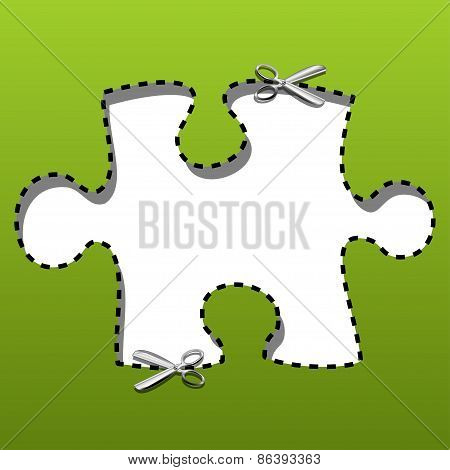 Coupon borders puzzles