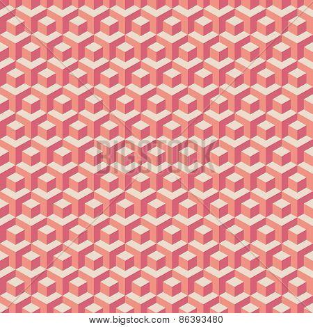 Pink cubes pattern