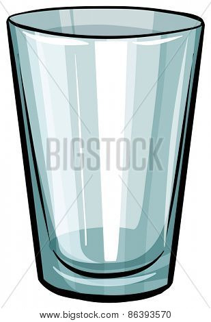Close up glass of water