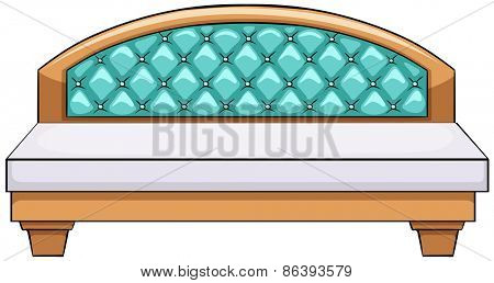 Close up luxury king side bed