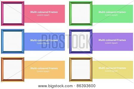 Six different color photo frames