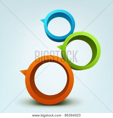 Abstract vector illustration of 3d rings