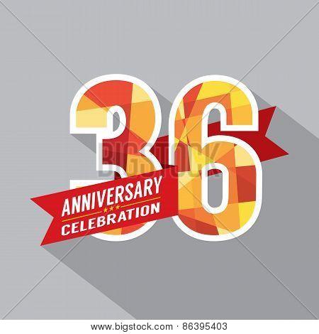 36Th Years Anniversary Celebration Design.