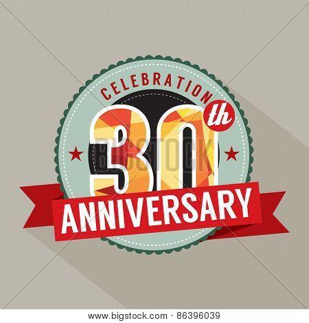 30Th Years Anniversary Celebration Design.