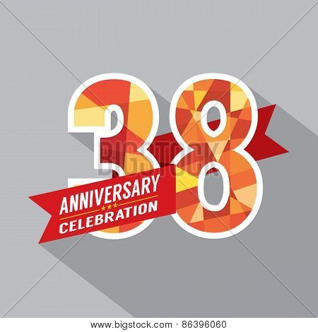 38Th Years Anniversary Celebration Design.