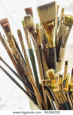 Old Artist Paintbrushes