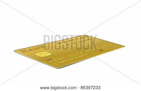 yellow credit card isolated