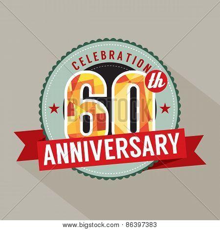 60Th Years Anniversary Celebration Design.