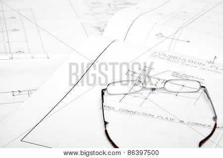 Blueprints and Reading Glasses
