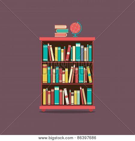 Flat Design Book Cabinet.