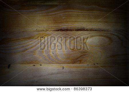 Closeup of wooden boards, dark edges