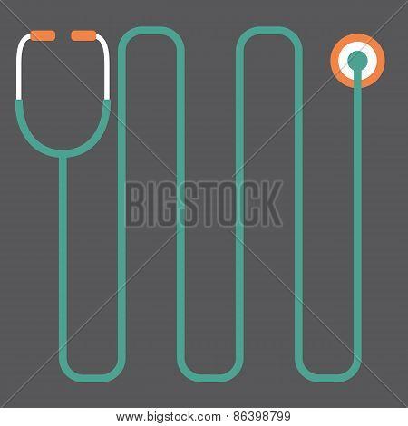 Modern Design Stethoscope.