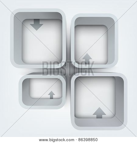 Abstract vector illustration of 3d frames