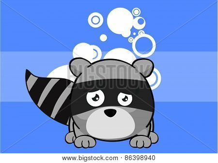 baby raccoon cartoon background