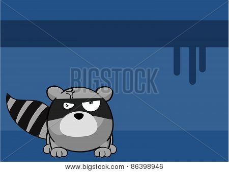 unhappy raccoon cartoon background