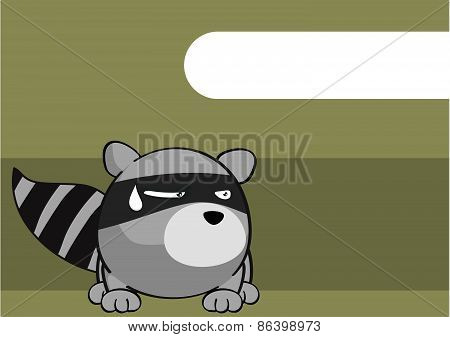 little raccoon cartoon background