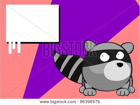 angry raccoon cartoon background
