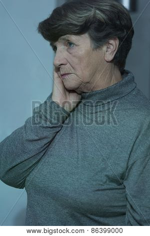 Worried Senior Woman Having Problems