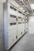 picture of electricity meter  - Electricity boxes and meters in apartment building - JPG